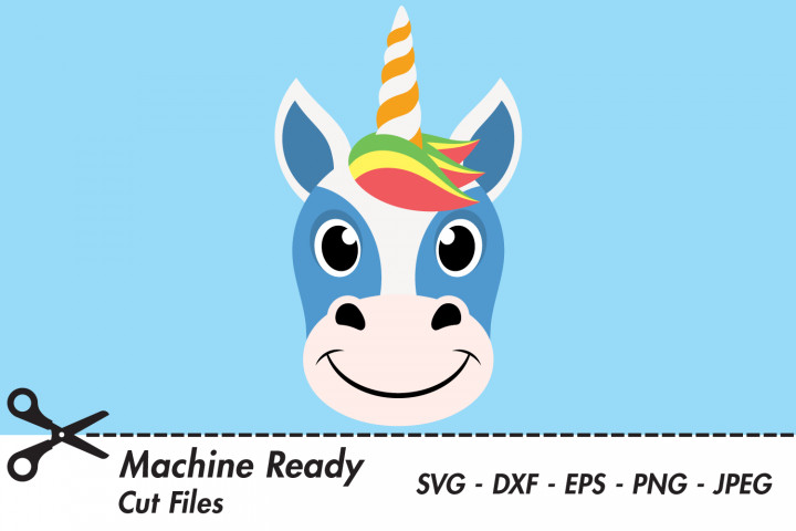 Cute Unicorn SVG Cut Files, Magical Unicorn Face