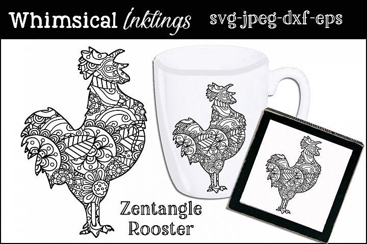 Zentagle Rooster SVG