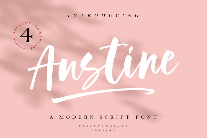 Austine - A Modern Script Font