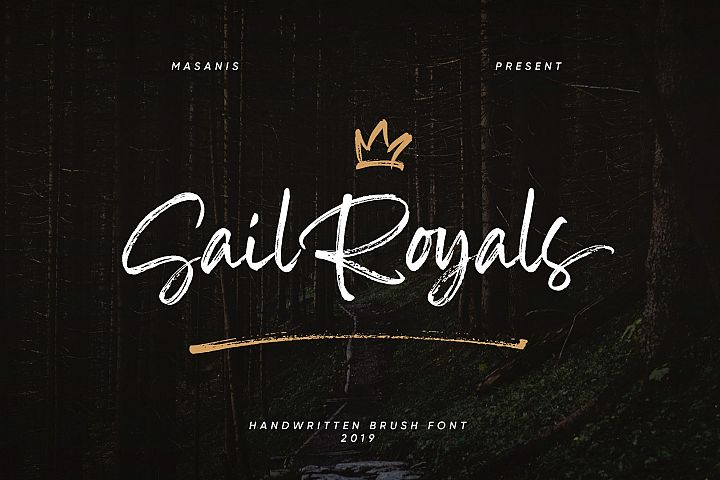 Sail Royals // Brush Script