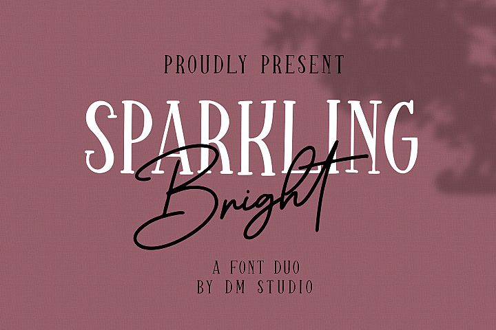 Sparkling Bright - Beauty Font Duo