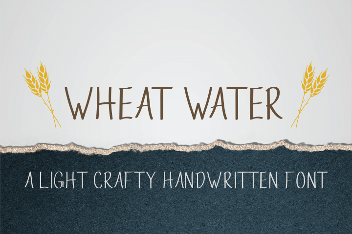 Wheat Water - A Crafty Thin Handwritten Font
