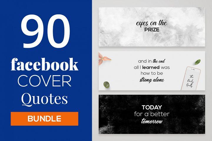 90 Facebook Cover Quotes Bundle
