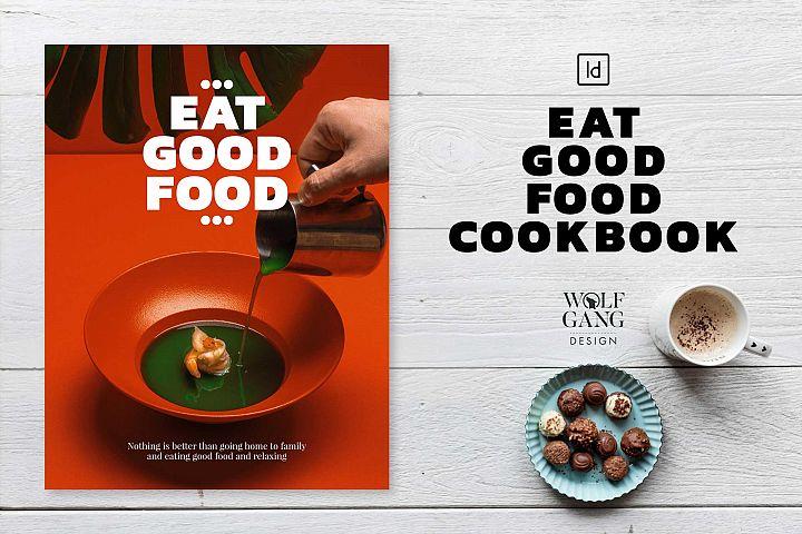 EAT GOOD FOOD Cookbook Template