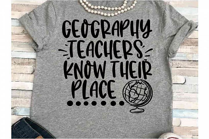 Teacher svg DXF JPEG Silhouette Cameo Cricut Geography globe