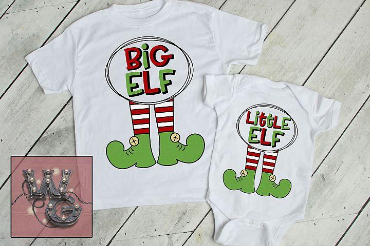 Elf Family Dad Mom Big Middle Little SVG DXF PNG JPG Comm