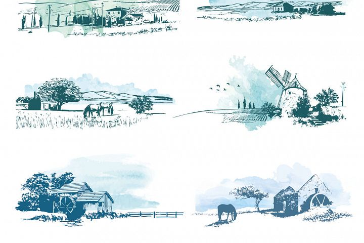 Vector Rural Landscapes