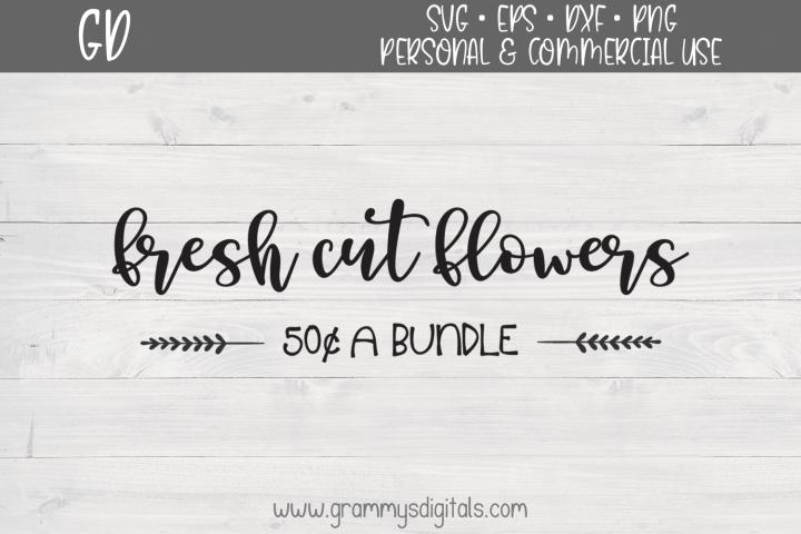 Fresh Cut Flowers SVG File