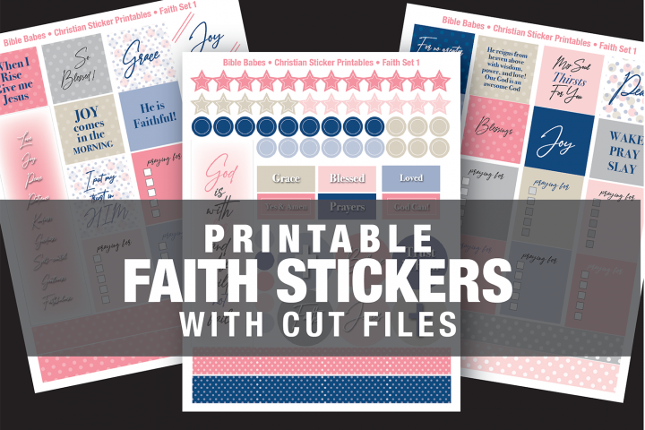 Christian Faith Stickers with SVG Cut Files