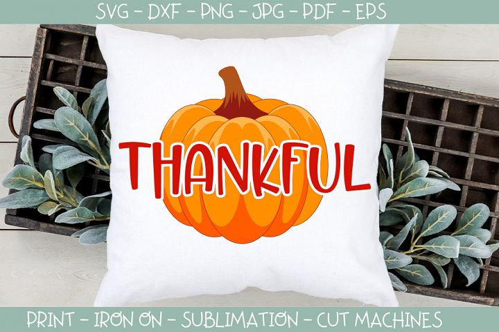Thanksgiving svg, Thankful, Pumpkin, Give thanks