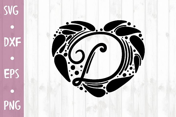 LETTER D SVG CUT FILE