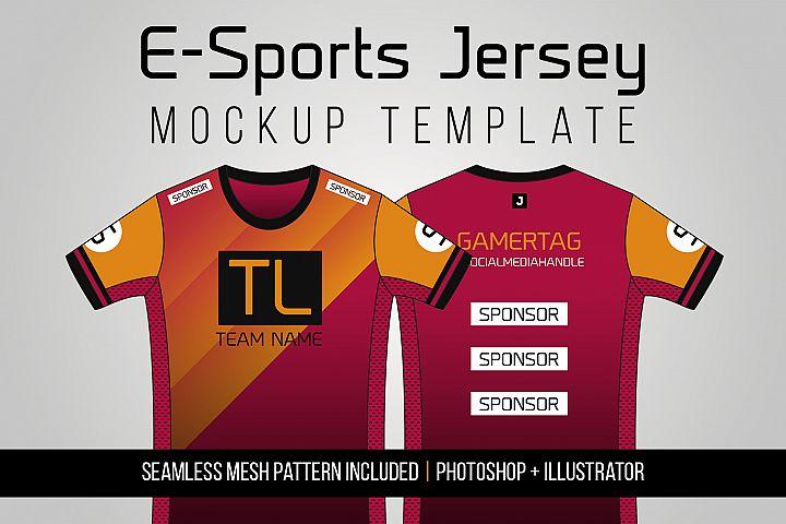 E-Sports Jersey Mockup Template