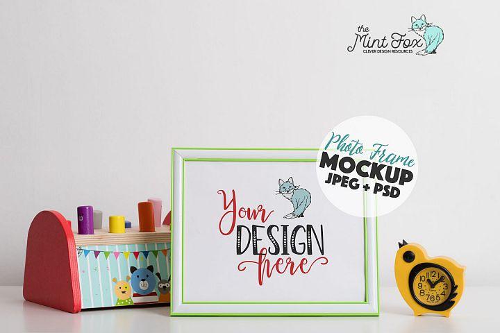 Children Photo Frame Mockup | Nursery Mock Up