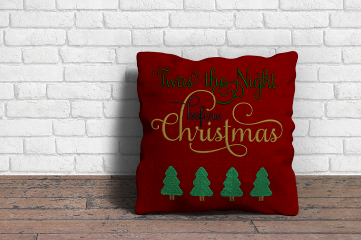 Twas the Night before Christmas Embroidery Design