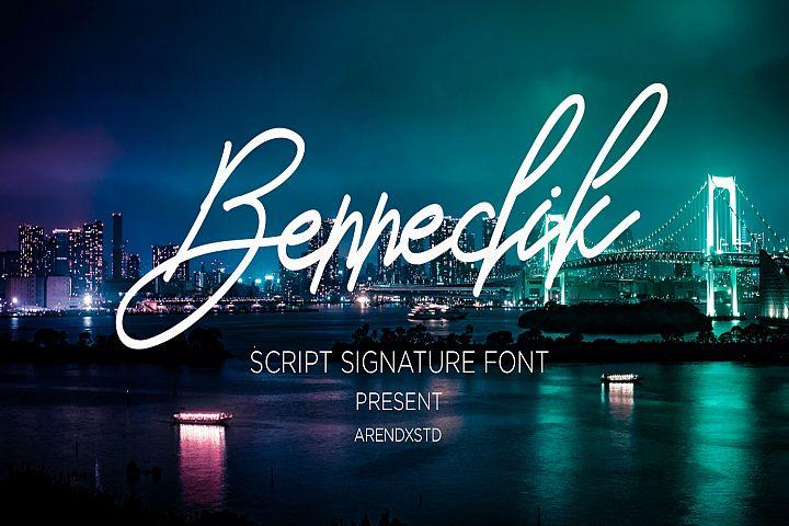 Bennedik Signature Typeface