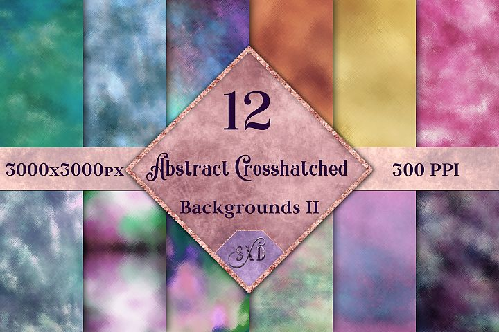 Abstract Crosshatched Backgrounds Vol 2 - 12 Image Textures