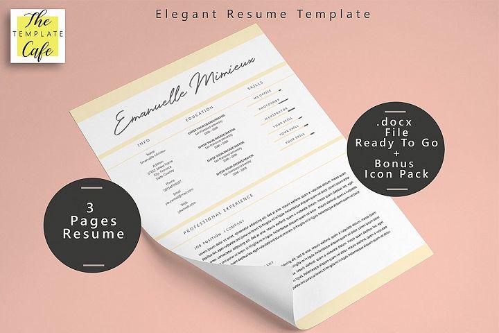 Elegant MS Word Resume Template