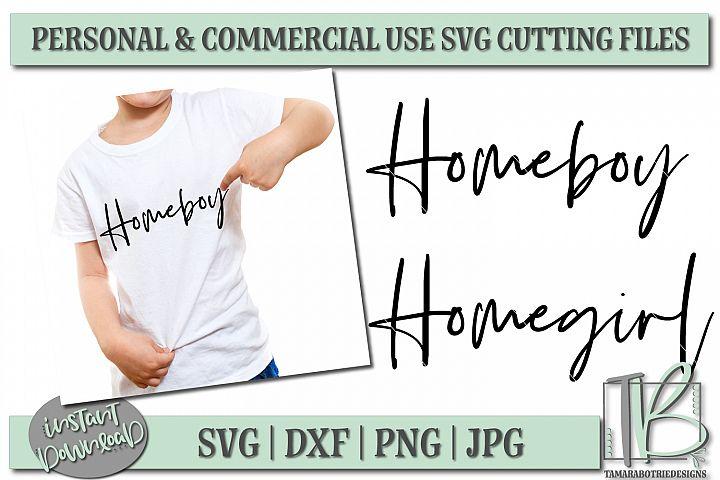 Homeboy Homegirl SVG File, Kids Shirt Cut Files