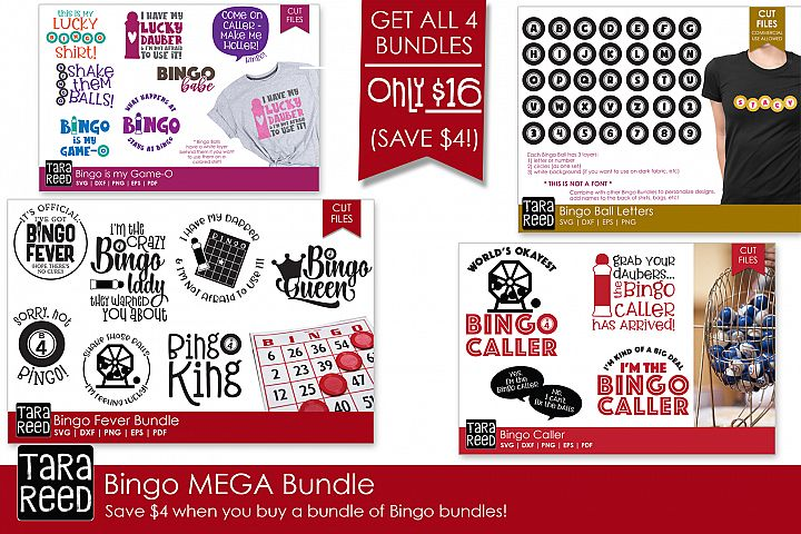 Bingo MEGA Bundle - Bingo SVG and Cut Files for Crafters