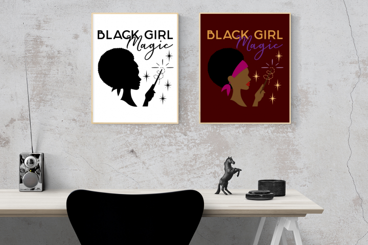 Black Girl Magic SVG File Cutting Template