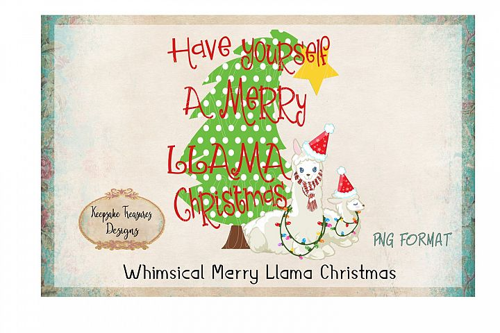 Whimsical Have Yourself A Merry Llama Christmas