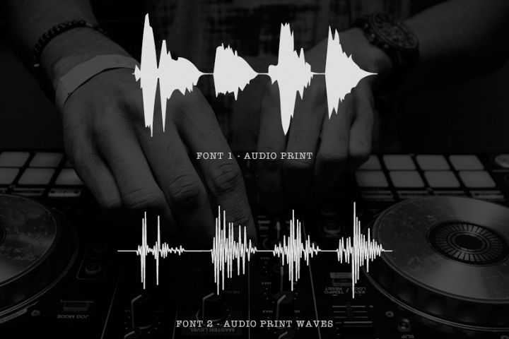 AudioPrint WaveForm Font