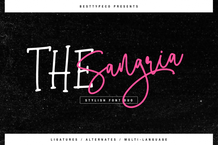 The Sangria font duo