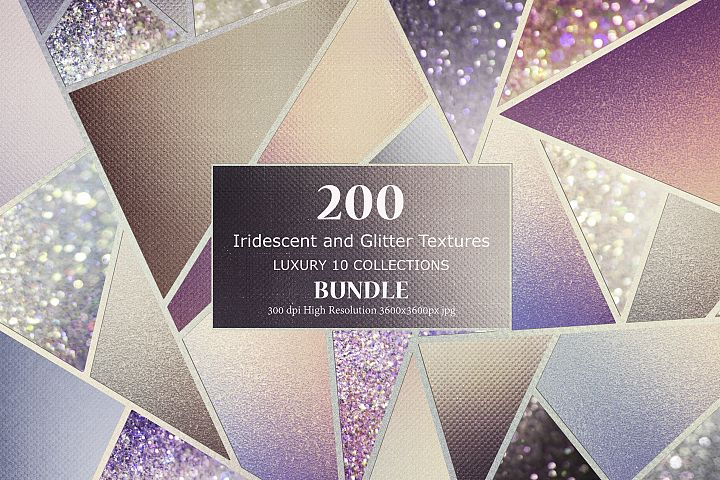 Iridescent and Glitter 200 Textures BUNDLE