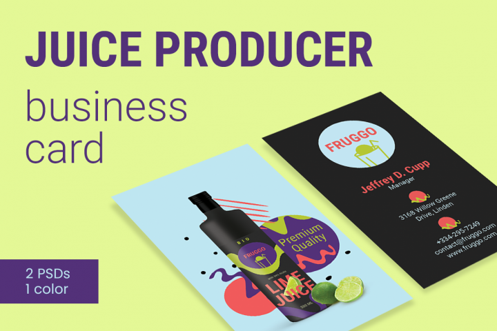 Juice Producer Business Card