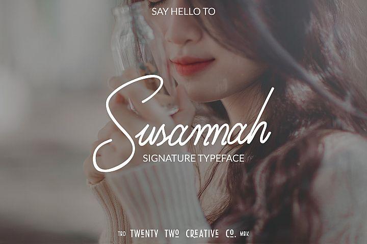 Susannah - a signature font