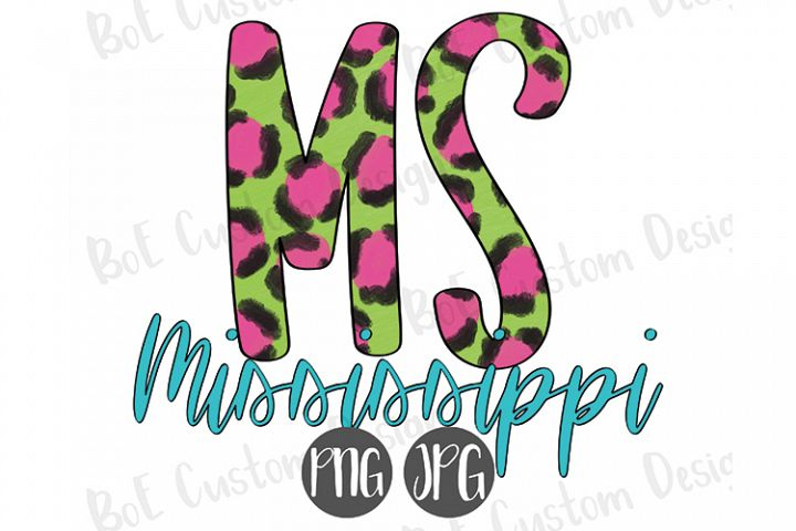 Leopard Mississippi Painted Clipart