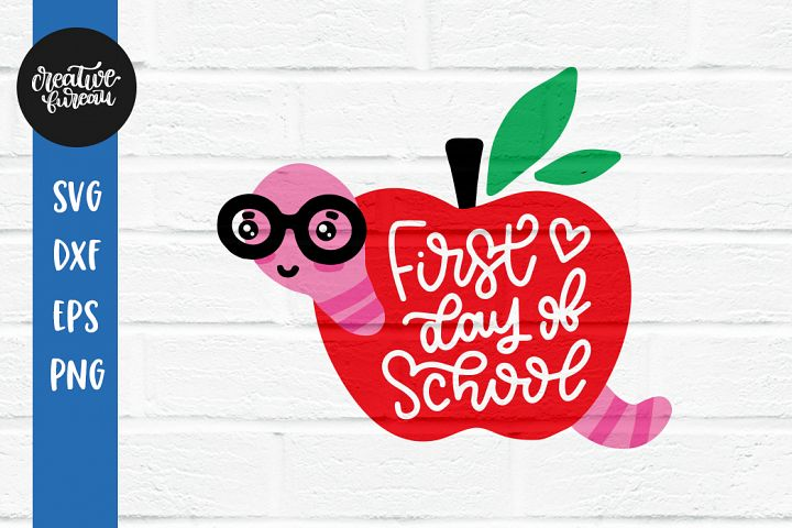 First Day Of School SVG DXF Cut File, First Grade SVG