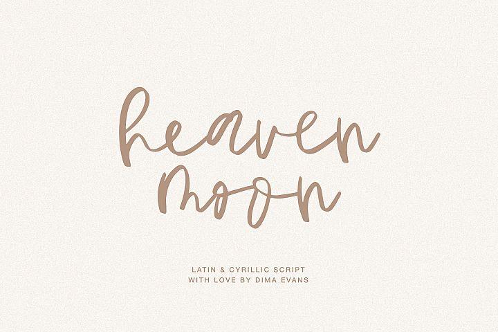 HeavenMoon Latin and Cyrillic