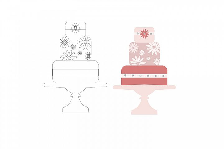 Layered Cake svg file, graphic file,