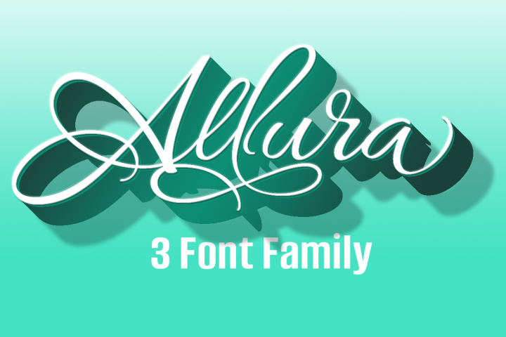 Allura Three Font Package- Save $60!