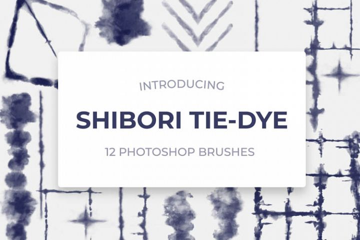 Shibori Tie-Dye Photoshop Brushes