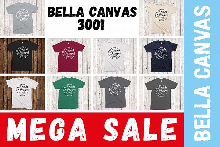 11 Mockups Bella Canvas 3001 Unisex Tshirt