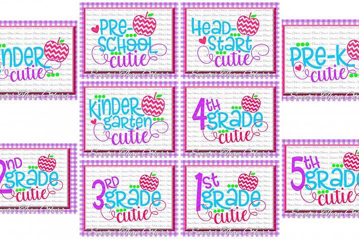 School Cutie SVG Bundle Kindergarten First Day of School