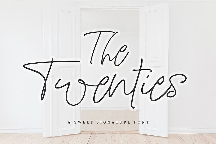 The Twenties | A Sweet Signature Font