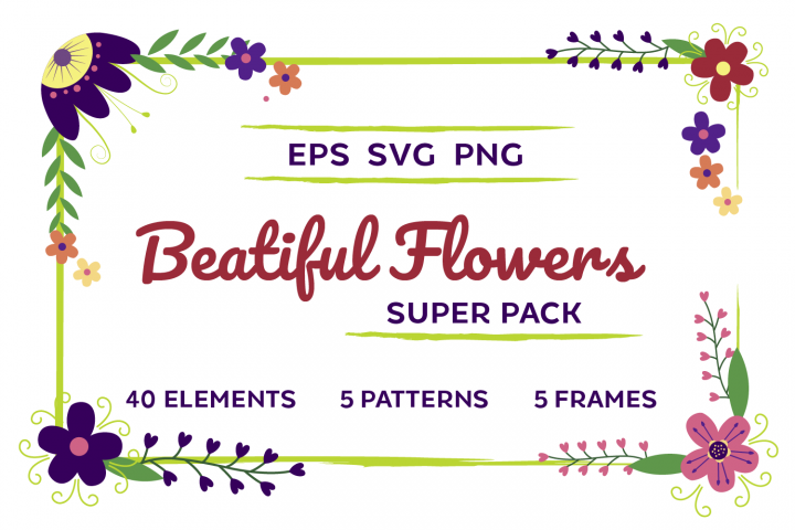 Beautiful Flowers Super Pack