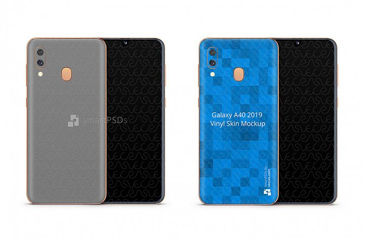 Samsung Galaxy A40 Vinyl Skin Design Mockup 2019