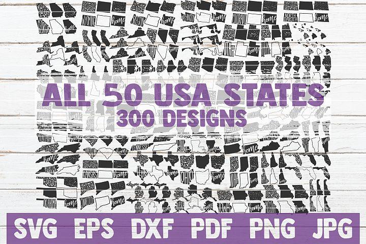 USA States Bundle | All 50 States 300 Designs