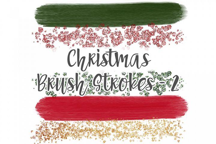 Christmas Brush Stroke Set 2