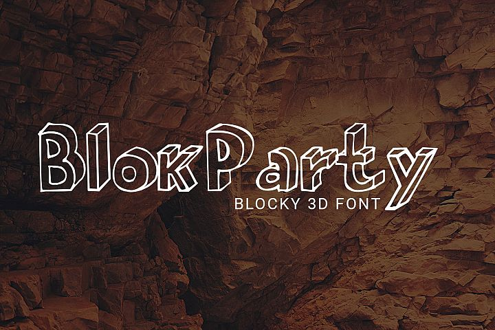BlokParty Playful Font for the Kid in You