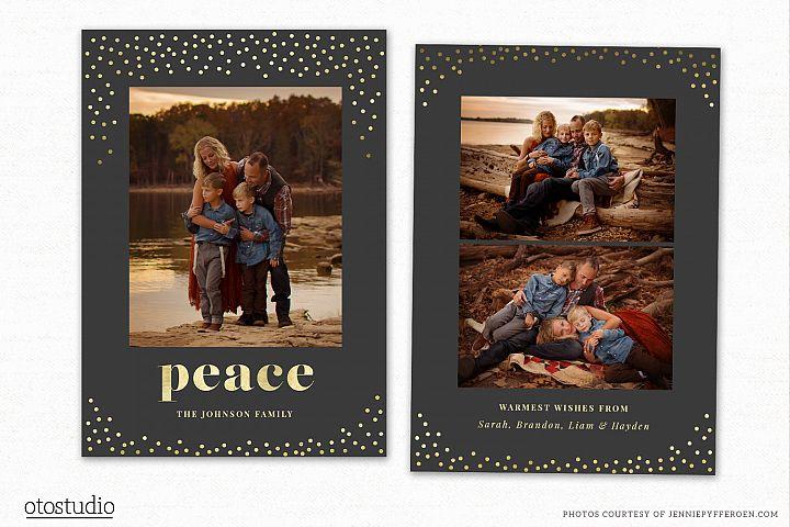 Christmas Card Template for Photographers CC196