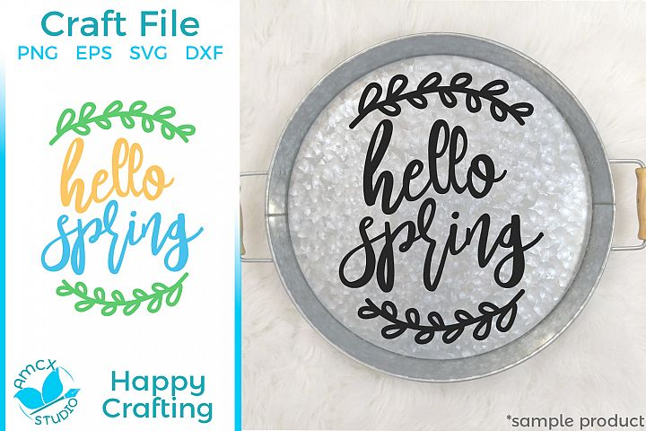 Hello Spring - A Sweet Spring SVG File