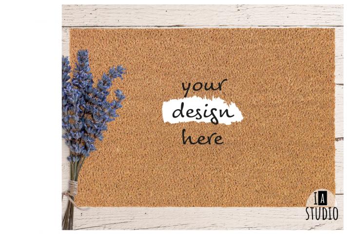 Doormat Mockup / Lavender Doormat Mockup