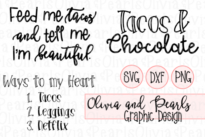 TACO BUNDLE, Fiesta Designs, Taco Party, Digital Cutting File, SVG, DXF, PNG