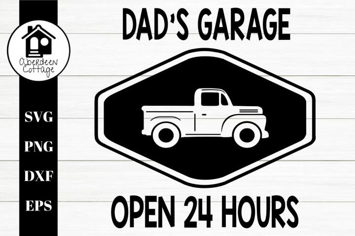 Dads Garage SVG| PNG | EPS | DXF
