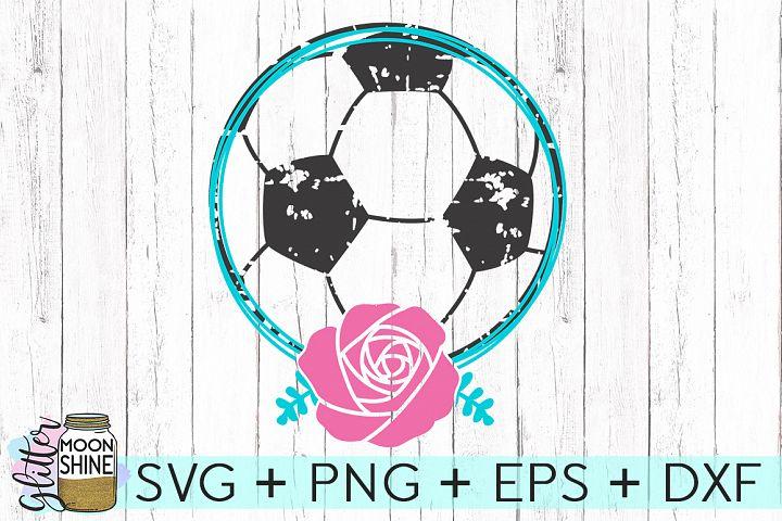 Soccer Name Frame SVG DXF PNG EPS Cutting Files
